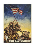 Marines All Together Giclée-tryk