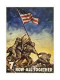 Marines All Together Giclée-Druck