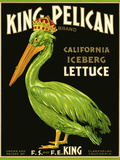 King Pelican Brand Lettuce Stampa giclée