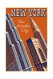 NY the Wonder City Giclée-tryk