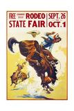 Rodeo State Fair Roan Giclée-tryk