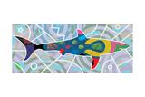 Shark Giclée-tryk af Teofilo Olivieri