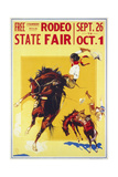 Rodeo State Fair Roan, Two Cowgirls Giclee Print