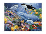 Sealife Lámina giclée por Jenny Newland