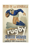 Rugby Giclee Print