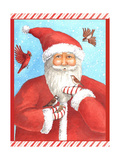 Santas Bird greeting Giclee Print by Melinda Hipsher