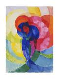 Red and Blue Disks Giclee Print by Frantisek Kupka