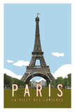 Paris Travel Poster Giclee Print by Michael Jon Watt