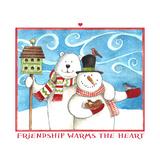 Snowman Bear Friendship Giclee Print by Melinda Hipsher
