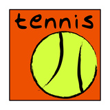 Tennis Ball Giclée-Druck