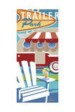 Trailer Park Giclee Print by Larry Hunter