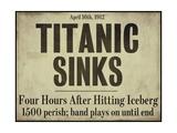 Titanic Giclee-trykk