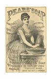 Pears Soap Washbowl Giclee Print