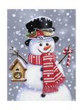 Snowman with Tophat Reproduction procédé giclée par William Vanderdasson
