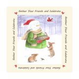 Snowman Friends Giclee Print by Melinda Hipsher