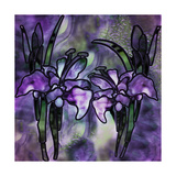 Stained Glass Orchids Giclee Print by Mindy Sommers