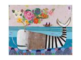 Spring Whale Giclée-Druck von Nathaniel Mather