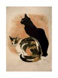 Steinlen, Two Cats Giclée-tryk