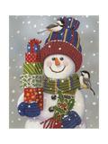 Snowman with Presents Reproduction procédé giclée par William Vanderdasson