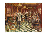 Tonsorial Parlor Giclee Print by Lee Dubin