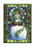 Bonhomme de neige Reproduction procédé giclée par David Galchutt