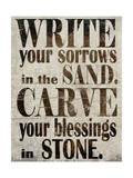 Sorrows in Sand Reproduction procédé giclée par Karen Williams