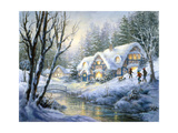 Winter Frolic Reproduction procédé giclée par Nicky Boehme