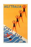 Surf Club Australia Giclée-tryk