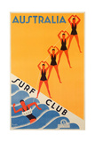Surf Club Australia Giclee-trykk