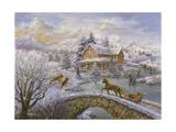 Winter Joy Giclée-tryk af Nicky Boehme