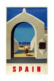 Spain Fisherman Giclee Print