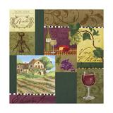 Wine Panels Lámina giclée por Fiona Stokes-Gilbert