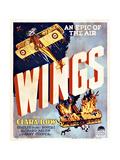 Wings Movie Poster Impressão giclée