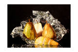 Yellow Pears on Foil Giclee Print by Laurin McCracken
