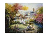The Wishing Well Stampa giclée di Nicky Boehme
