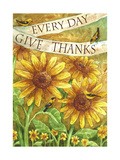 Sunflower Give Thanks Everyday Giclee Print by Melinda Hipsher