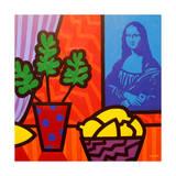 Still Life with Matisse and Mona Lisa Lámina giclée por John Nolan