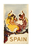 Spain - Women Dancing Giclée-Druck