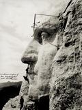 Workmen on Face of George Washington Reproduction photographique