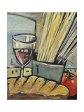 Wine Bread and Pasta Giclée-tryk af Tim Nyberg
