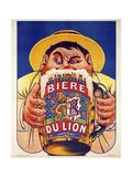 Biere du Lion Giclée-tryk