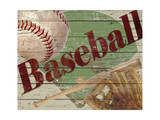 Baseball Reproduction procédé giclée par Karen Williams