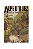 Alpe Du Huez Giclée-tryk