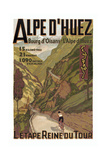 Alpe Du Huez Giclee-trykk