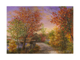 Autumn's Color of Fashion Reproduction procédé giclée par Nicky Boehme
