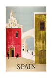 Vintage Travel to Spain Giclée-Druck