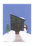 Barnwood Outhouse Giclee Print by Debbie McMaster
