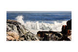Acadia Rocks and Waves Giclee Print by Laurin McCracken