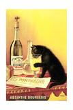 Katze mit Branntwein|Absinthe Bourgeois Giclée-Druck