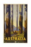 Australia Trees Impressão giclée